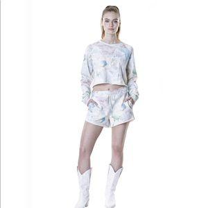 NWT Baja East sweater short set crystal